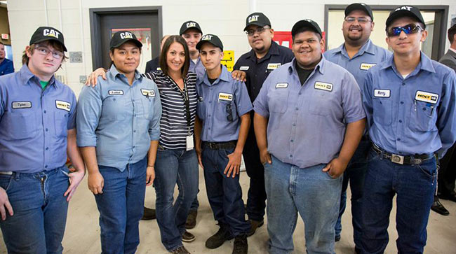 Holt cat partnership with dubiski career high school targets skills recent dubiski class of 13 and 14 graduates now full time holt cat service technicians with their intern coordinator shalimar moore malvernweather Gallery