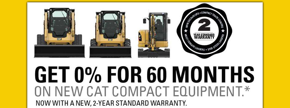 HOLTCAT > Specials > 0 for 60 on CAT Compact Equipment